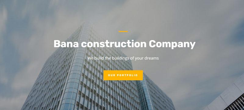 corporate website design sample